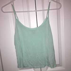 Mint Green Cropped Tank